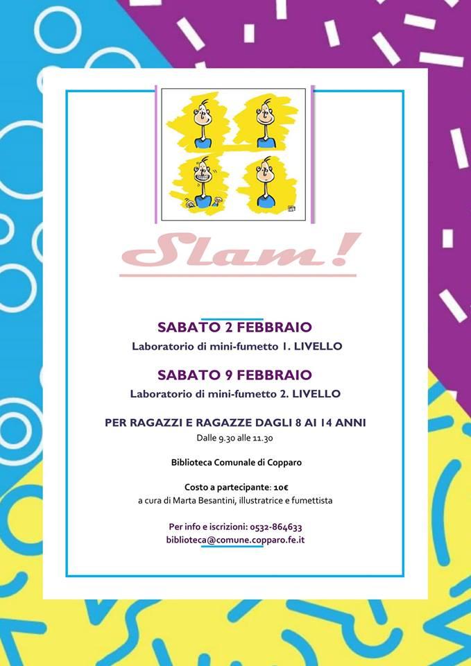 Slam! Laboratorio di mini fumetto - Biblioteca di Copparo