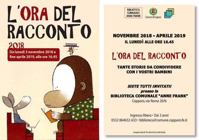 L'ora del racconto - Biblioteca Copparo